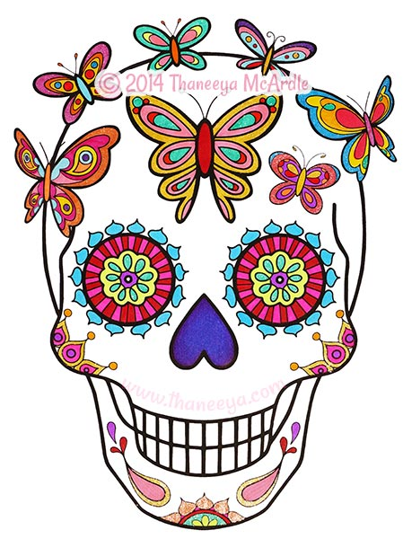 Day Of The Dead clipart coloring sheet Of Thaneeya Day Thaneeya the