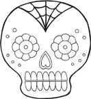 Day Of The Dead clipart girly skull Clip_art_emb_07  inspiration the Day