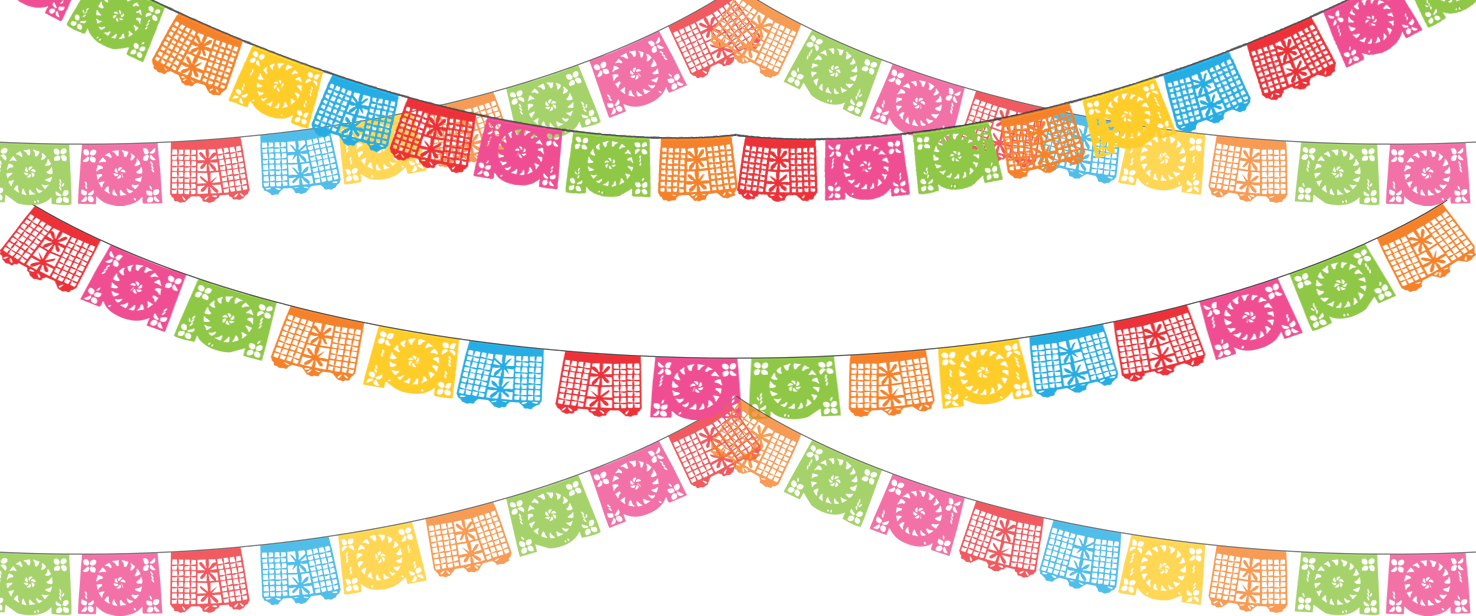Day Of The Dead clipart papel picado  1 gt