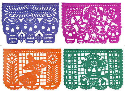 Day Of The Dead clipart papel picado Mexican out banners) cut (Hand
