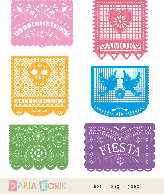 Day Of The Dead clipart papel picado On Papel Cinco jpeg Clip
