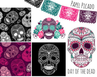 Day Of The Dead clipart papel picado Sugar skull Pictures the Digital