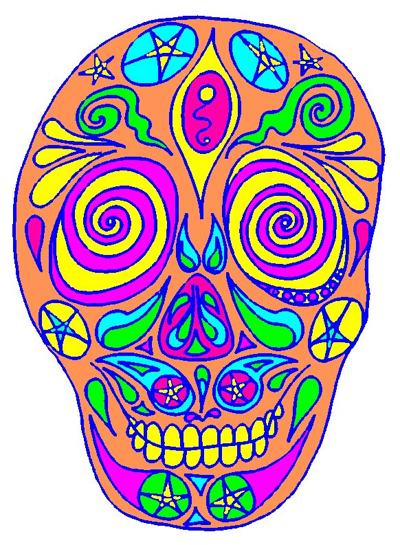 Day Of The Dead clipart patterned skull Day on of Pin Pinterest
