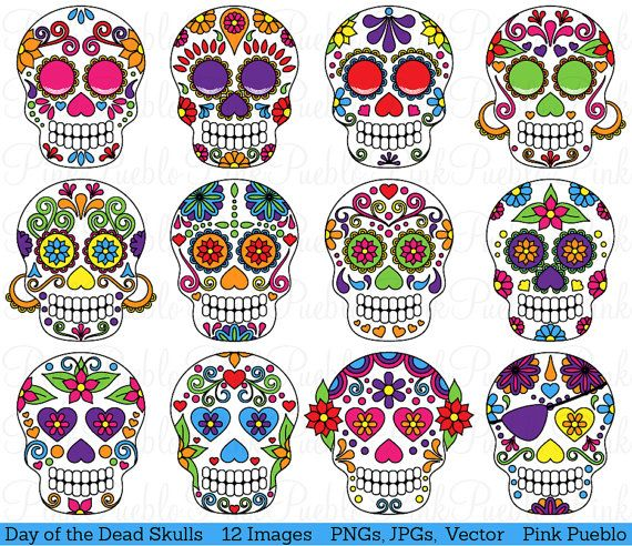 Day Of The Dead clipart girly skull Ideas Day on diy of