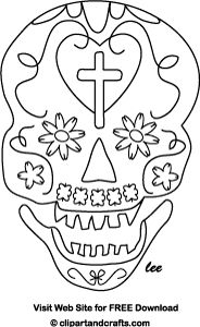 Day Of The Dead clipart coloring sheet Painting of images Day painting
