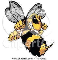 Hornet clipart wasp  Hornet Cartoon Mascot Stingers