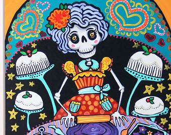 Day Of The Dead clipart la catrina Decor Mexican Day Kitchen La