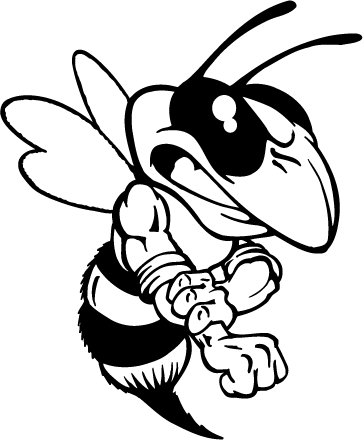 Hornet clipart black and white Clipart yellow school mascot Clipart