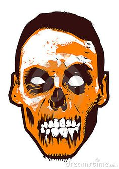 Zombie clipart walking Royalty with zombie face Stock