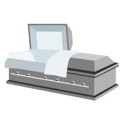 Coffin clipart open coffin Casket Clip Open Art casket