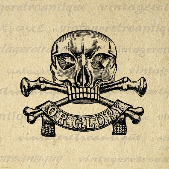 Deadth clipart crossbone Death Pinterest Image Graphic Vintage