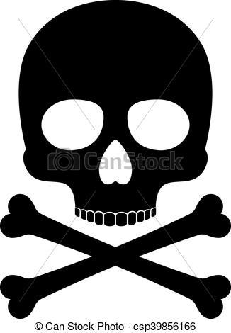 Deadth clipart crossbone Crossbones silhouette Clip Art Crossbones