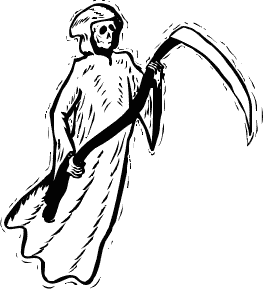 Reaper clipart silhouette Art Domain Clipart Ghost Floating