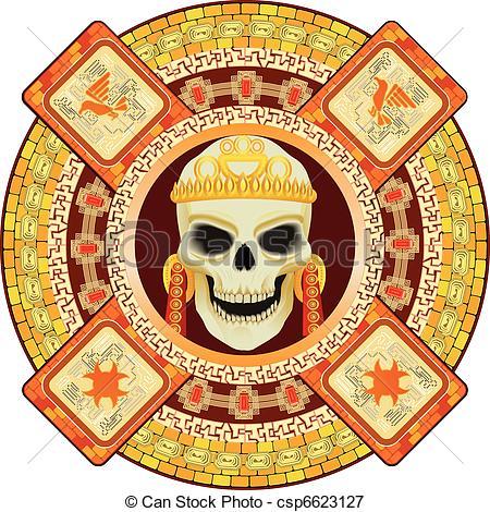 Aztec clipart aztec god #9