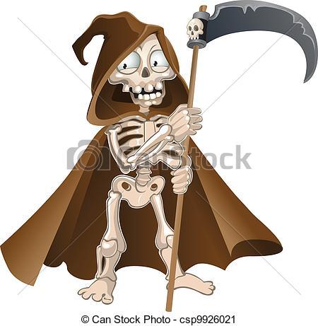 Deadth clipart halloween Csp9926021 Vector of death