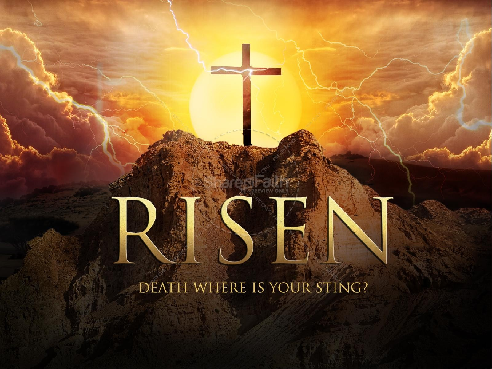 Deadth clipart religious Death is PowerPoint Easter Sting