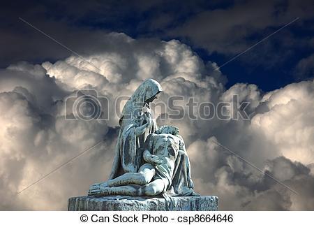 Deadth clipart religious Csp8664646 Image art pieta Grave