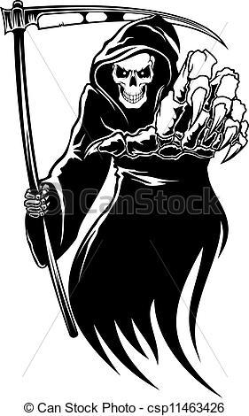Deadth clipart scythe Csp11463426 monster  with scythe