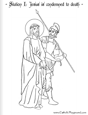 Deadth clipart station the cross Jesus is page the of