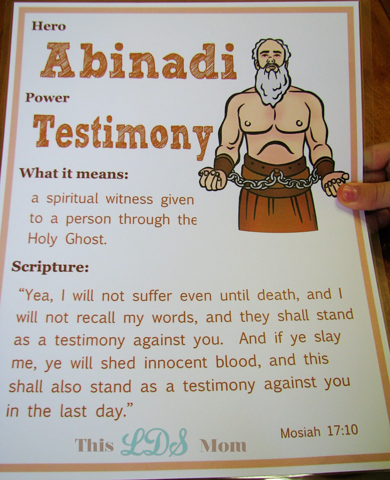 Deadth clipart testimony This LDS Mom: Scripture Heroes: