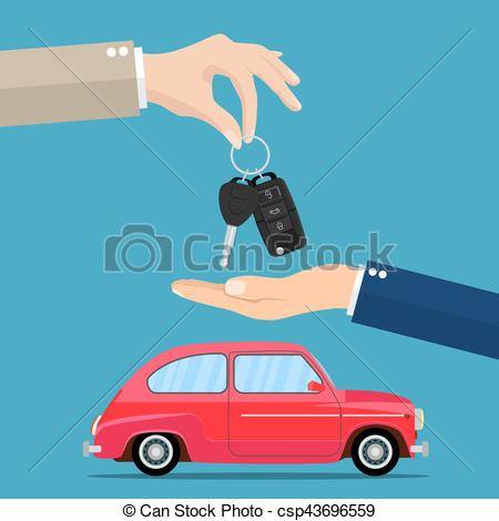 Dealership clipart car rental Giving car Dealer vector rental