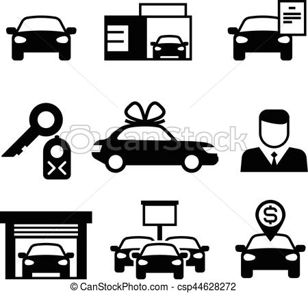 Dealership clipart car loan Dealership icons selling Vectors renting