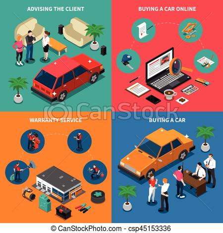 Dealership clipart car loan Isometric Car Car Concept Car
