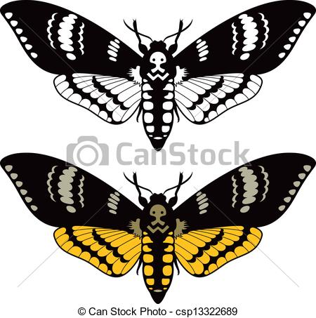Deaths Head Moth clipart Moth Death's hawk vector csp13322689