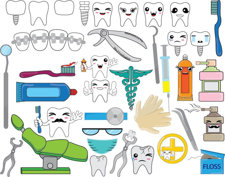Teeth clipart dentista Personal Clip Digital Graphics 20+