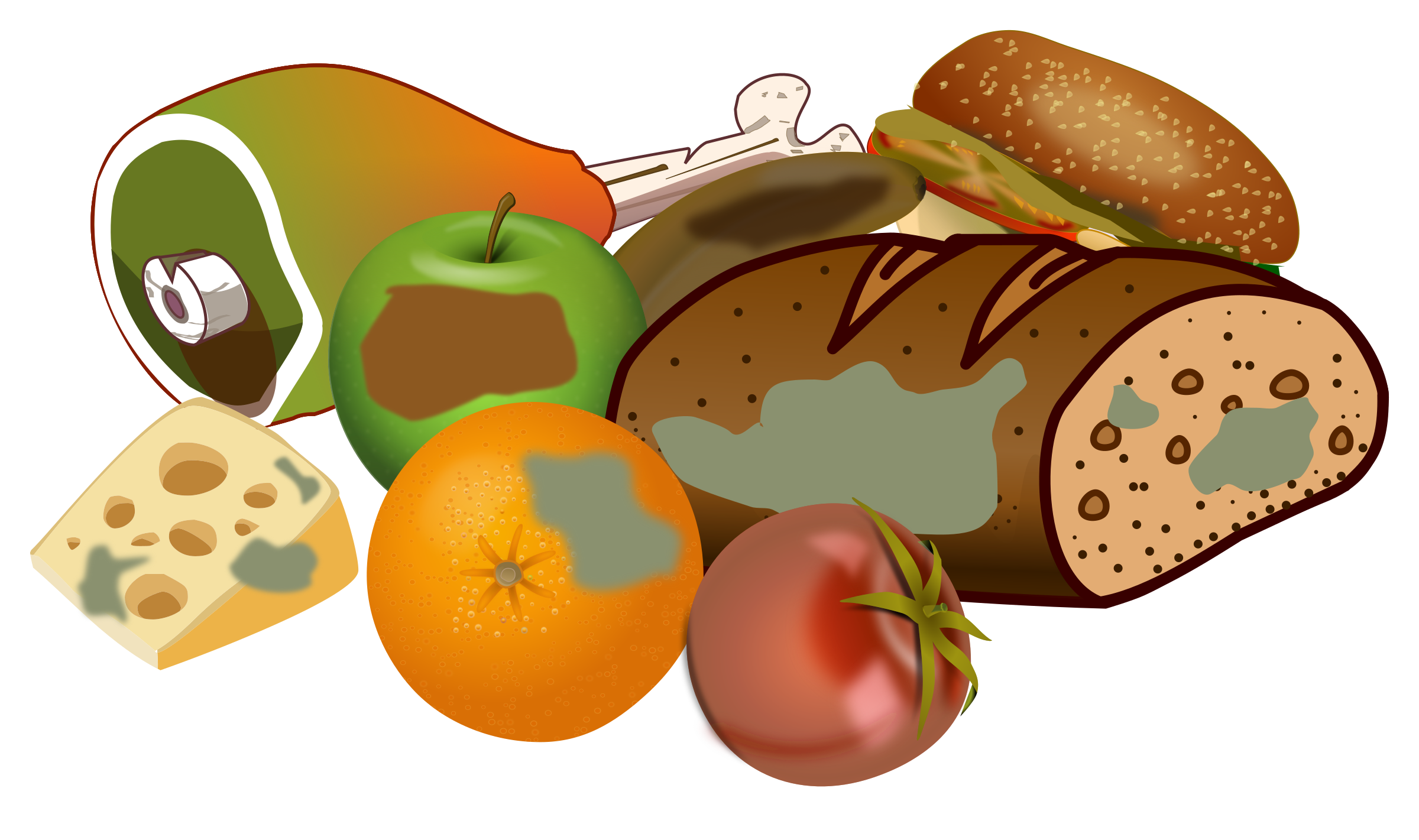 Decay clipart rotten food Clipart food Wasting Wasting food
