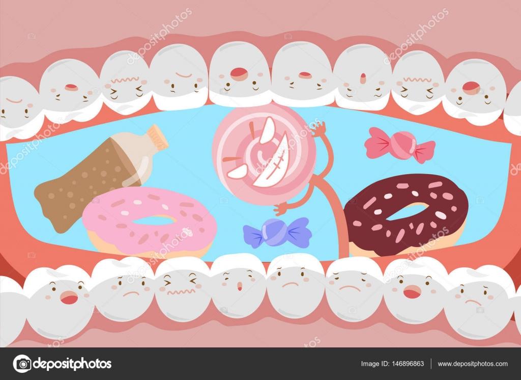 Decay clipart sad — tooth sad decay Stock
