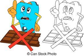 Decay clipart sad Cartoon with chocolate; Sad chocolate