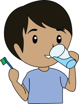 Child clipart cleaning tooth  top decay art danasrho