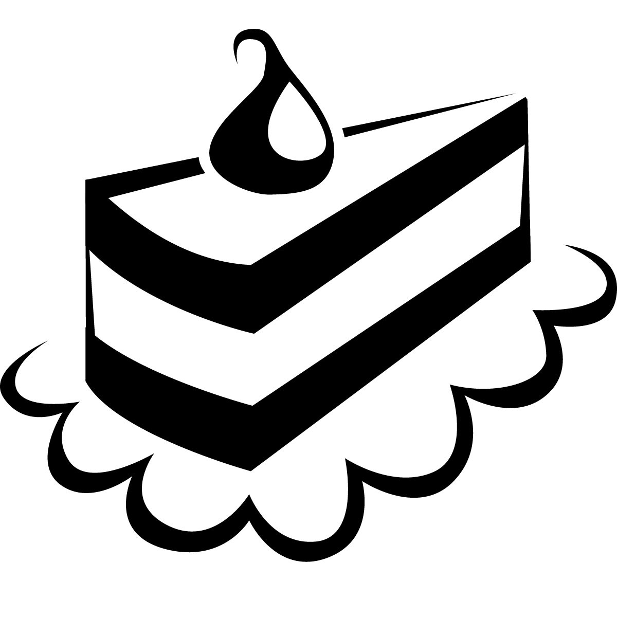 Black & White clipart cake Clipart black use and for