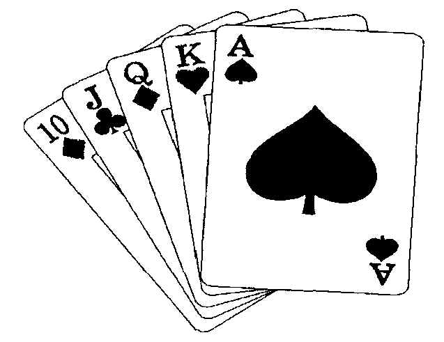 Cards clipart black and white On Deck Cards Games Math