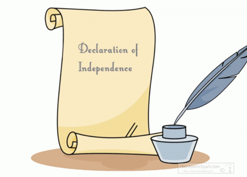Declaration Of Independence clipart Cliparts Independence The Letter Clipart