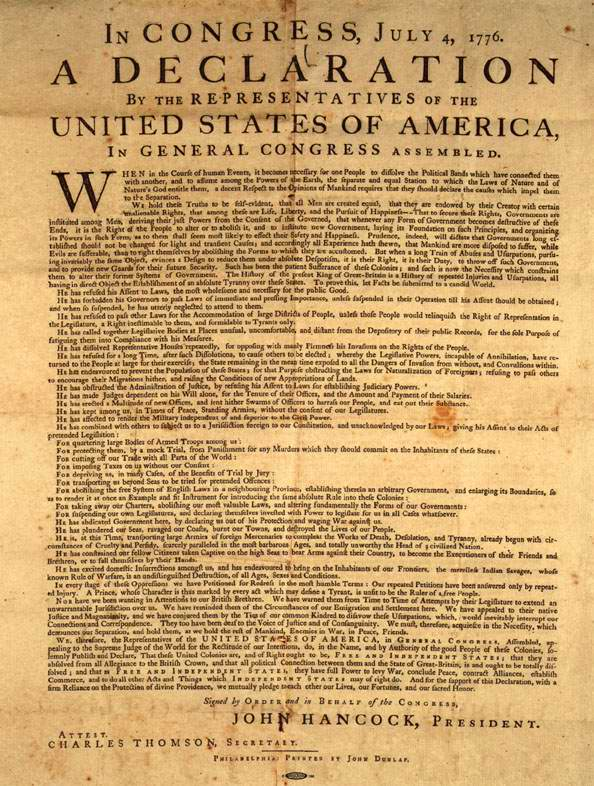 Declaration Of Independence clipart britain Independence 1776 Signers Author of
