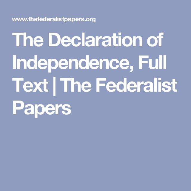 Declaration Of Independence clipart student Text Declaration The The Full