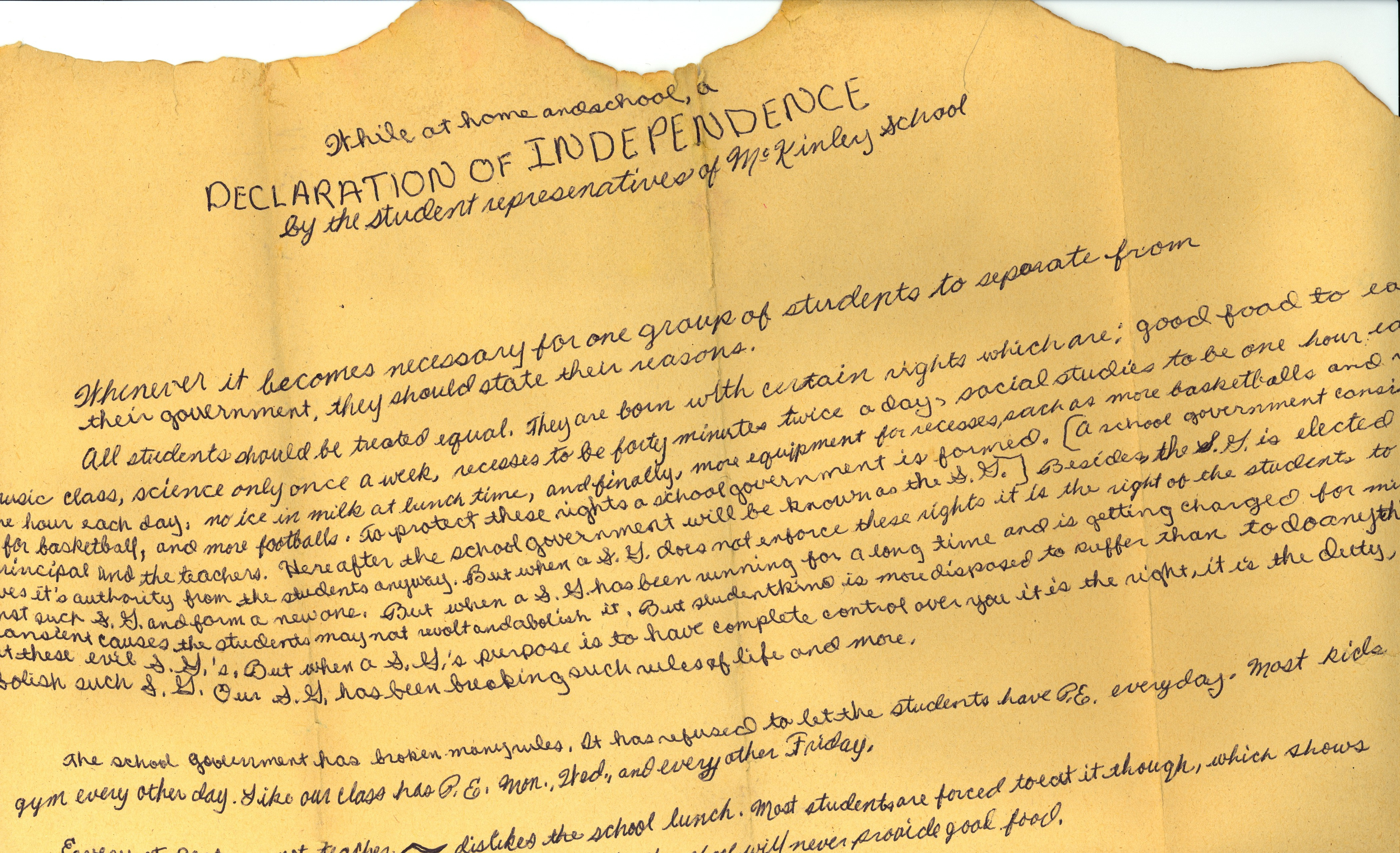 Declaration Of Independence clipart ind Essays college declaration paper the