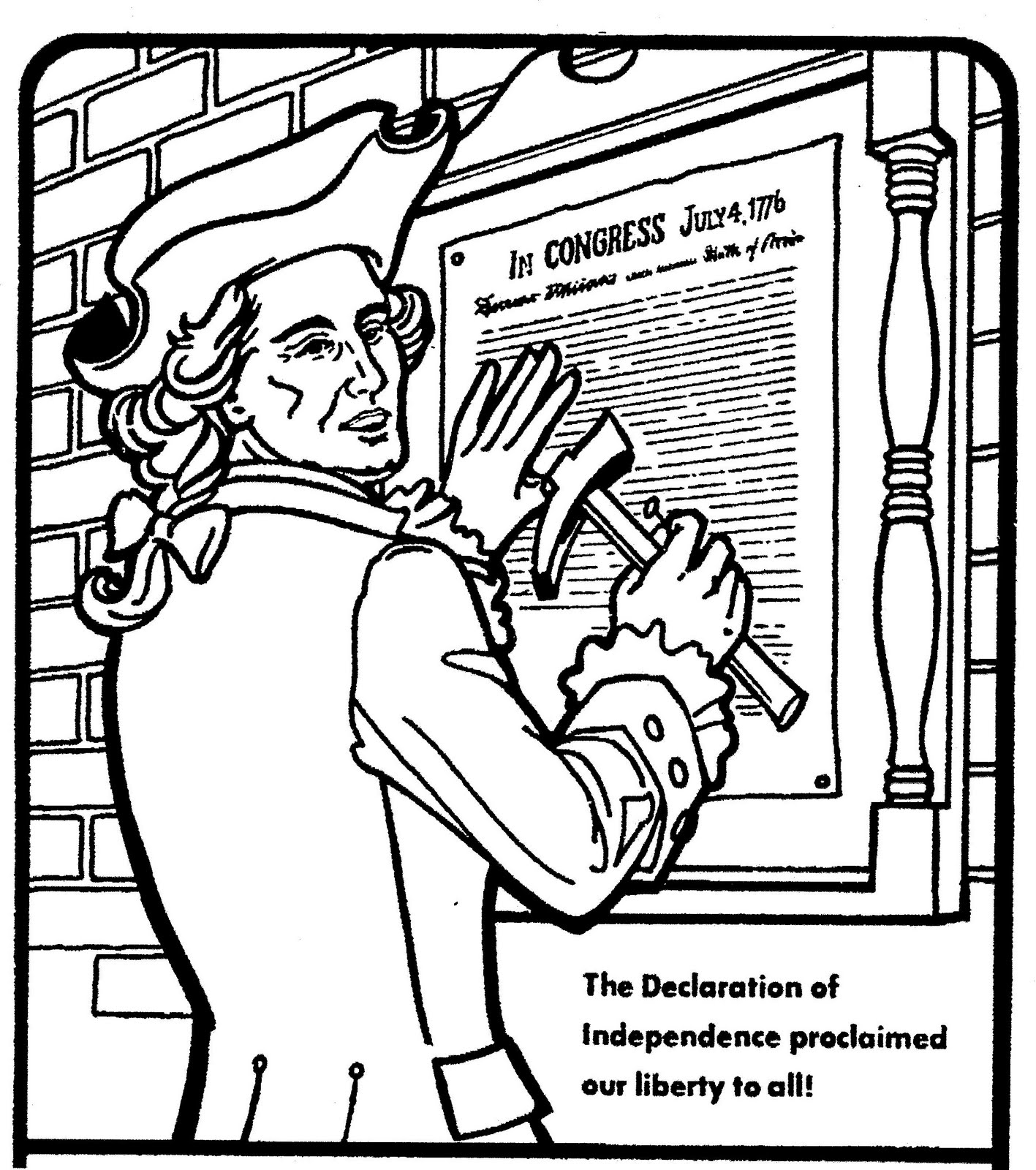 Declaration Of Independence clipart printable Independence More Of 1776 Pages