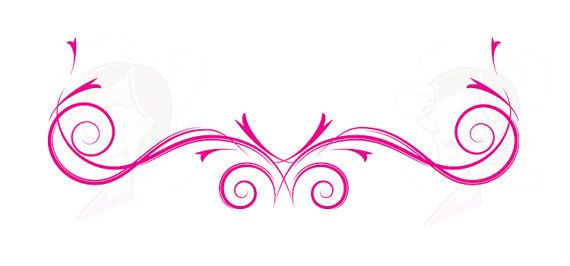 Decoration clipart streamer Flower Flourish 10344 Flower Flourishes