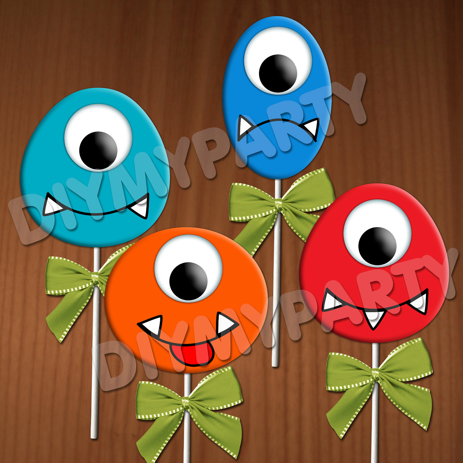 Decoration clipart art file Monsters  Party Printable Cupcake