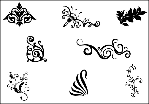 Decoration clipart art file Flower GraphicsSilhouette Flower FLOWER VECTOR