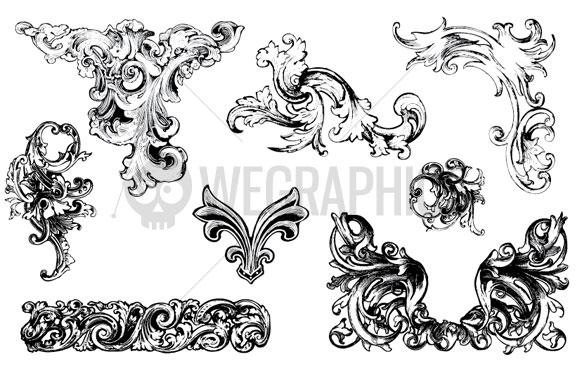 Decoration clipart baroque Google Ornamental baroque Google Search
