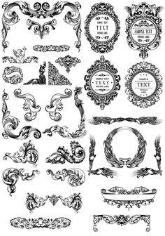 Decoration clipart baroque Vintage backgrounds 200+ Borders Clipart