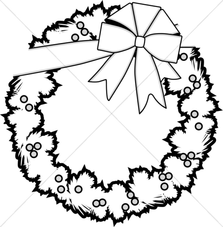 Decoration clipart black and white Black Report Christmas Vvisitingmexico Clipart