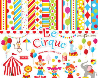 Decoration clipart circus Papers and clipart download clipart