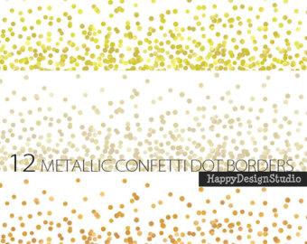 Decoration clipart confetti Digital glitter clip Gold gold