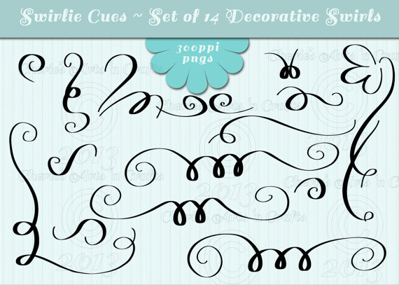 Calligraphy clipart curly q Clipart Borders Swashes from Swashes