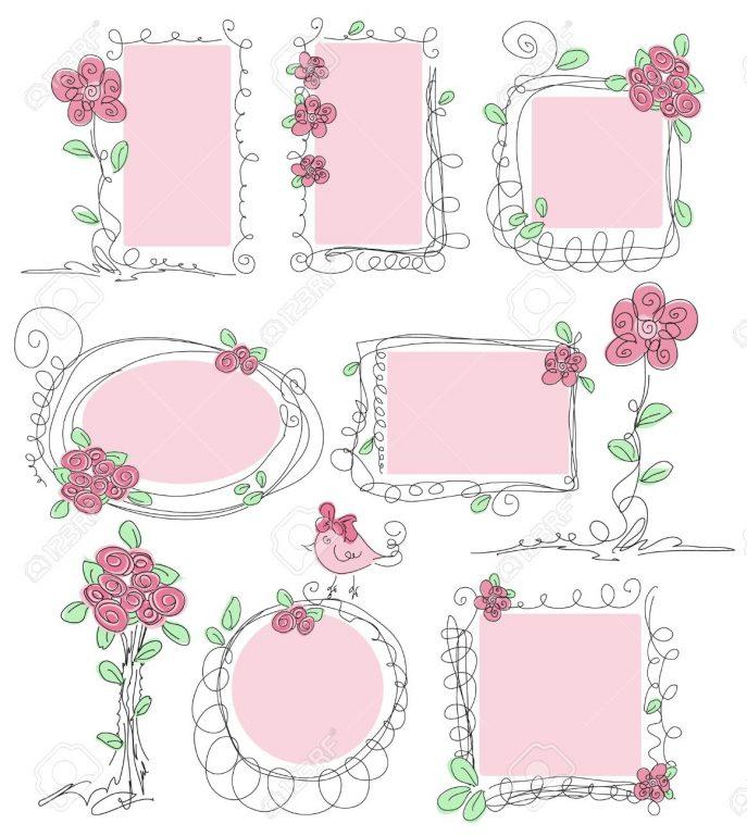Decoration clipart cute flower Text Decorative Box Borders Clipartfest